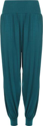 New Ladies Plain Harem Trousers Women/'s Full Leggings Stretch  Pants Plus Size