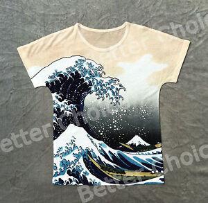 Camiseta Gran Ola Kanagawa Great Wave T Shirt Ukiyo E Hokusai Art