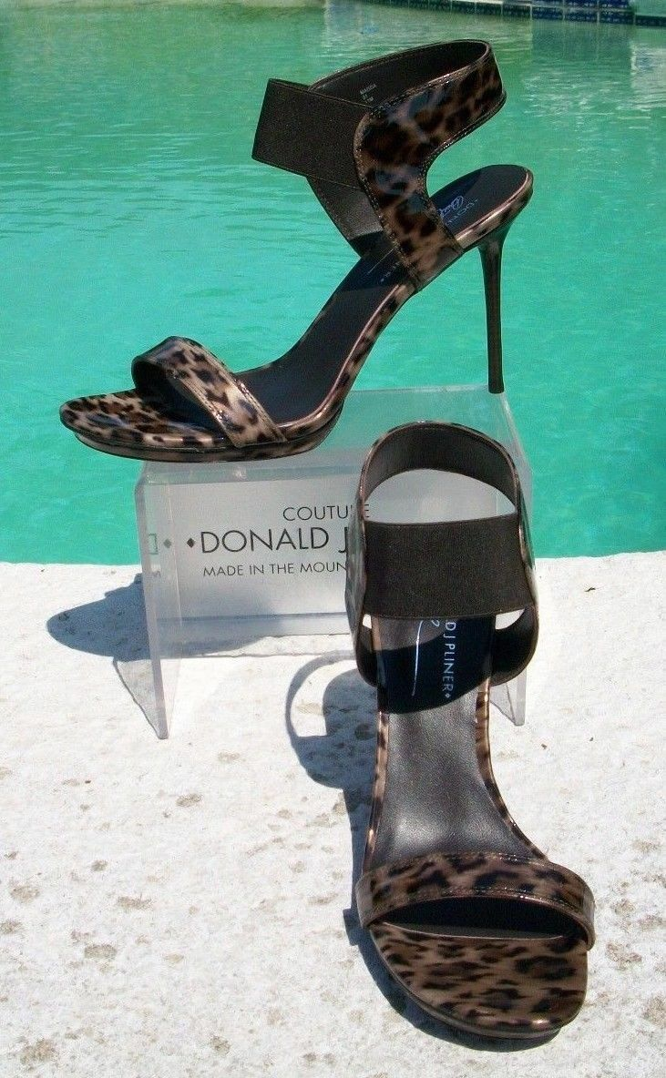 Donald Sandal Pliner Patent Pelle Electric Ankle Cuff Sandal Donald Shoe New Stiletto  245 d90c7a