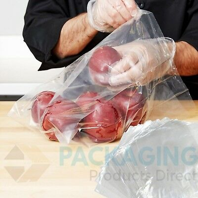 POLYTHENE PLASTIC CLEAR FOOD USE FREEZER STORAGE BAGS - VARIOUS SIZES & QTYS