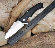 B000717T Snake Head Tactical Survival Folding Knife With 9Cr18M Blade G10 Handle