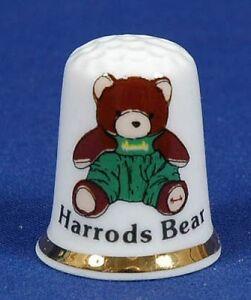 Harrods-Bear-039-Exclusive-039-Bone-China-Thimble-B-28