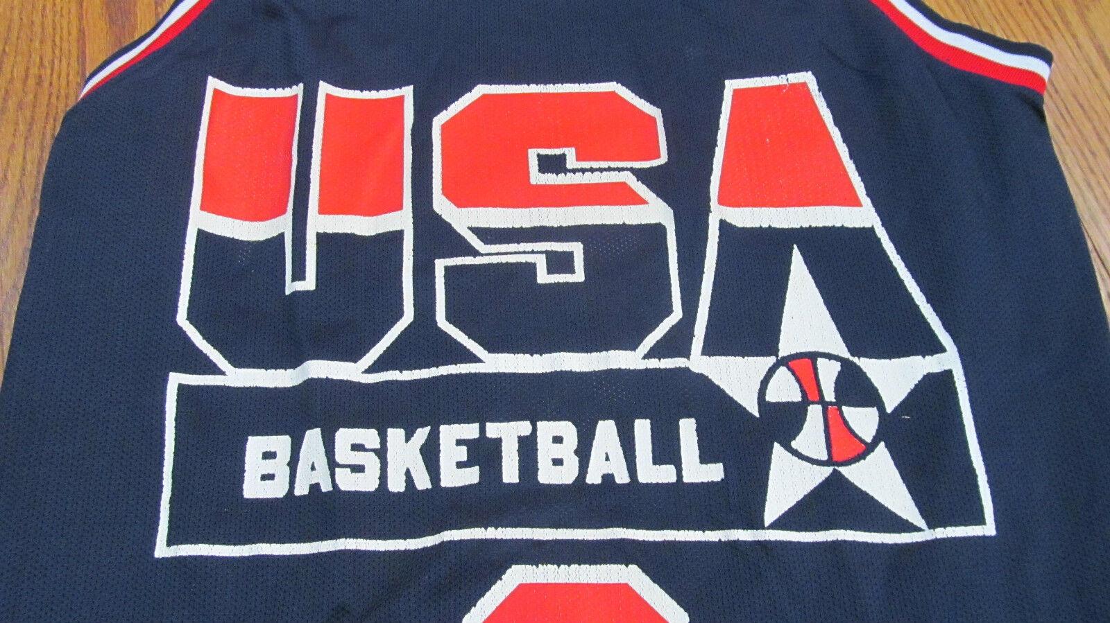 RARE vintage Men's USA Champion Basketball Jersey NBA Coleman America 90's ball
