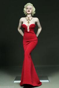 """1//6 Scale Marilyn Monroe Short White Dress Mini Skirt F 12/"""" Female Figure Body"""