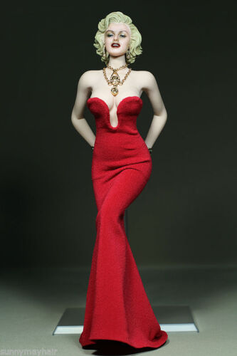 """Women Red Dress Clothes 1//6 Scale Marilyn Monroe Clothing F 12/"""" PH Figure"""