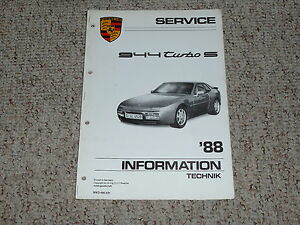 1988 porsche 944 turbo s shop service repair workshop manual coupe rh ebay com 1985 Porsche 944 Manual 1983 Porsche 944 Manual