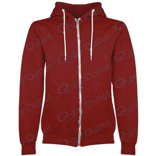 New Kids Plain Childrens Zip Up Fleece Boys Sweatshirt Hoody Jacket Hoodie Top
