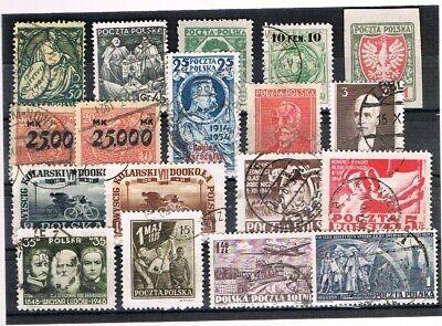 Polen Europa Gehorsam Polen 1918/48 Kleine Sammlung Marken Gebraucht