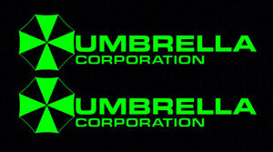 2X-Green-Umbrella-Corporation-Hive-Resident-Evil-Vinyl-Sticker-Car-Window-Decal