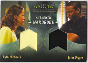 Arrow-3-Dual-Relic-Wardrobe-Costume-Card-Lyla-Michaels-amp-John-Diggle-DM2-DM-2