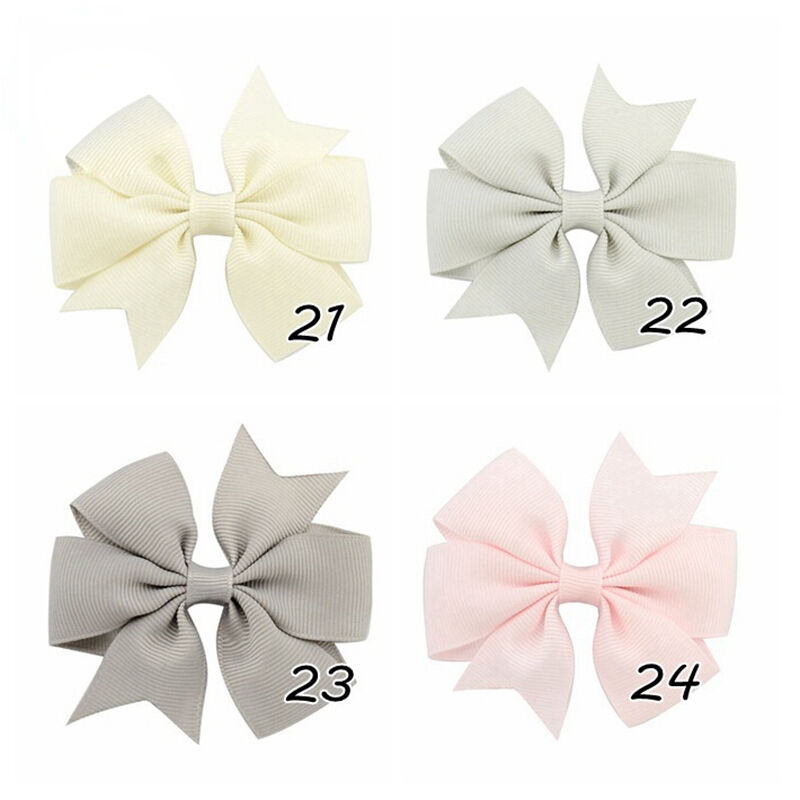 40x Boutique Grosgrain Ribbon Pinwheel Hair Bows Attached With Alligator Clip LE