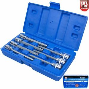 Ball-End-Hex-Allen-Key-Long-Reach-Socket-Set-7-Pc-3-8-Inch-Drive-Blue-Spot