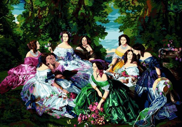 Fairy and the Bluebells SEG de Paris Tapestry//Needlepoint Kit