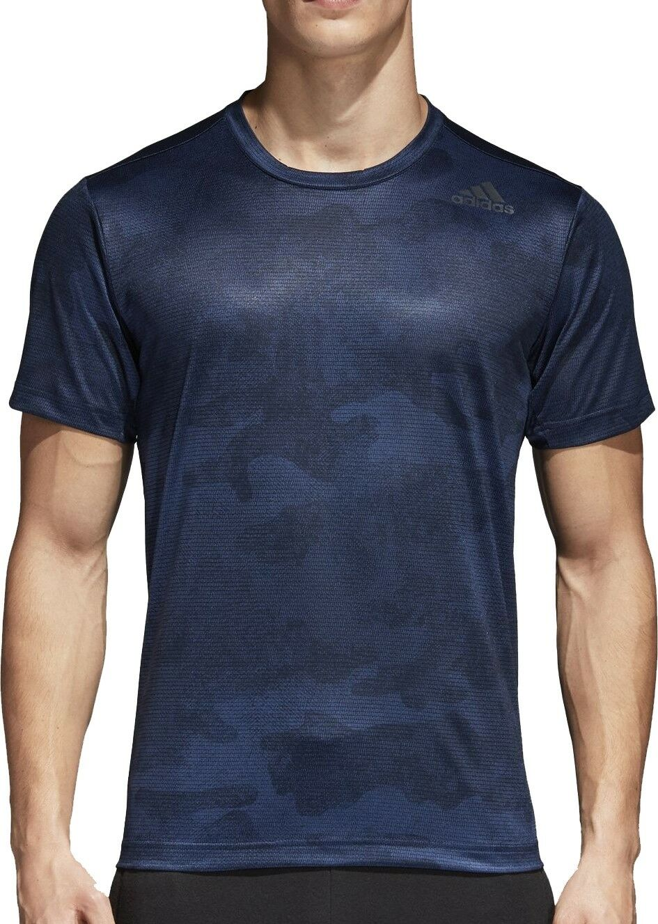Adidas FreeLift ClimaCool Graphic Mens Short Sleeve Training Top - bluee