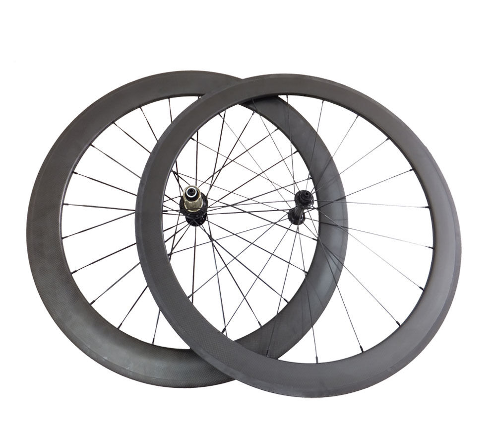 Front 50mm Rear 60mm Carbon Road Bike Wheels Cycling Tubular Wheelset R13Hub700C