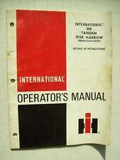 Original International 350 Tandem Disk Harrow Operators Manual 1977