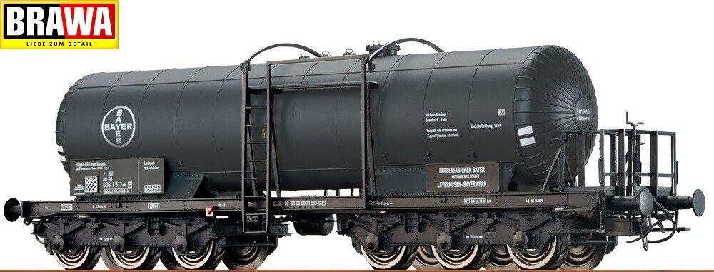 """Brawa H0 48536 Vagón Cisterna """" Bayer """" Der DB - Nuevo + Ovp"""