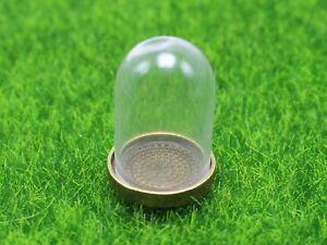 DIY-Miniature-Glass-Display-Dome-with-Bronze-Metal-Base-Memory-Locket-25X38mm