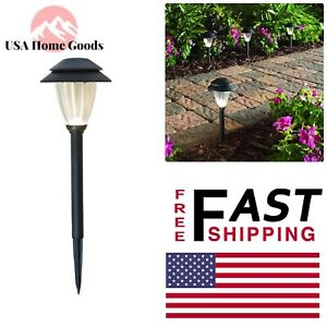 Details About Black Outdoor Integrated Led Low Voltage Landscape Path Light Set With Transform