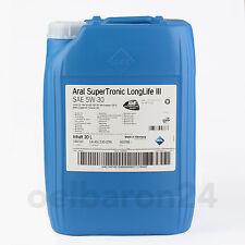 Aral Super Tronic Longlife 3 Motoröl SAE 5w 30 20 Liter Kanister III 507.00 C30