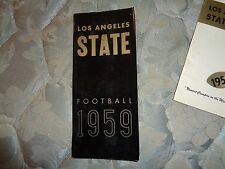 1958 LOS ANGELES STATE COLLEGE DIABLOS FOOTBALL MEDIA GUIDE Yearbook Cal LA AD