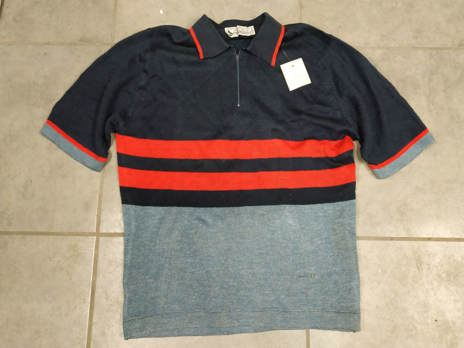 N.O.S Maillot hiver PEUGEOT CYCLES velo old bicicletta bici epoca cycliste