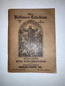 The-Baltimore-Catechism-No-2-by-Rev-M-Philipps-1911-Antique-Nineteenth-Ed