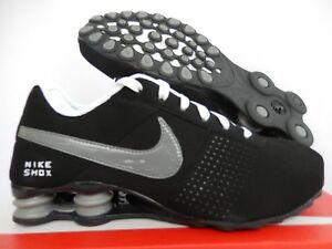 the latest 002c5 20433 Image is loading NIKE-SHOX-DELIVER-BLACK-COOL-GREY-WHITE-ANTHRACITE-