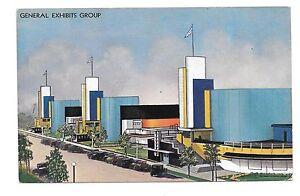 1933-Chicago-World-039-s-Fair-PC-E-109-General-Exhibits-Group