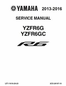 yamaha r6 yzf yzfr6 2013 2014 2015 2016 service manual on cd ebay rh ebay com yamaha r6 manual 2006 yamaha r6 manual 2001