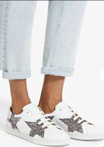 AND/OR Edie Star Trainers, White/Multi