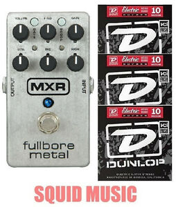 MXR-M116-Fullbore-Metal-Distortion-Guitar-Effects-Pedal-M-116-3-STRING-SETS