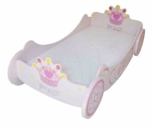 outlet store 79307 2d19f Details about Kiddi Style Childrens Superior Royal Princess Carriage Junior  Toddler Bed Girls