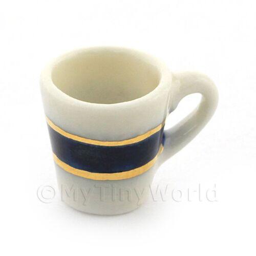 Dolls House Miniatura Blu e Oro Metallico TAZZA DI CAFFE/'