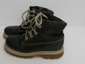 order terrific value popular brand Details about Unisex Childrens CAT Walking Machines Navy Leather Boots UK  Size 3.
