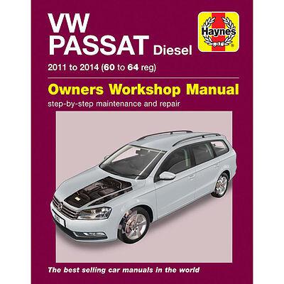 VW Passat Diesel B7 1.6 2.0 Diesel 2011-14 Haynes Workshop Manual