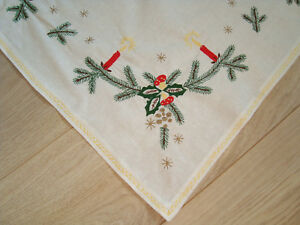 Vintage-Christmas-Tablecloth-with-embroidered-Xmas-decoration