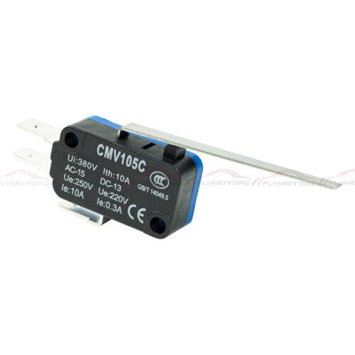 10 Pcs Snap Action Long Lever Micro Limit Switch Subminiature SPDT 3D Printer