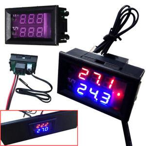 24V Digital LED Microcomputer Thermostat Controller Switch Temperature Sensor
