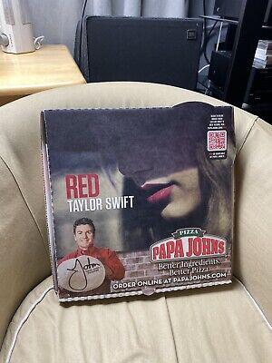 Taylor Swift Red Papa John S Pizza Box Rare Ebay