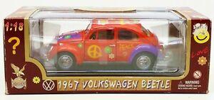 Road Legends 1967 Flower Power Volkswagen Beetle Die Cast Metal No. 92079