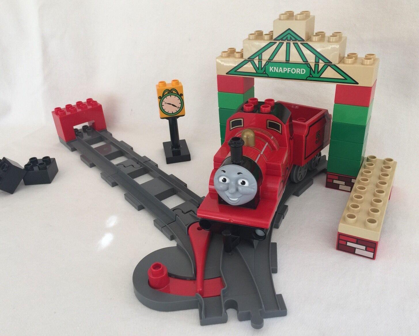 duplo LEGO 5552 Thomas Train JAMES VID KNAPFORD STATION