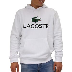 reputable site 6d9ee ac33a Details zu Lacoste Sweatshirt mit Kapuze Pullover Pulli Hoodie Herren  SH0601 001 Weiß