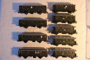 43-Konvolut-9-Personenwagons-der-DRG-Ep-II-in-H0-u-a-von-Fleischmann-2x-OVP