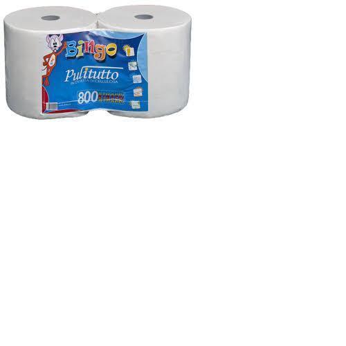 10 rotoloni bobine carta in pura cellulosa 800 strappi liscia