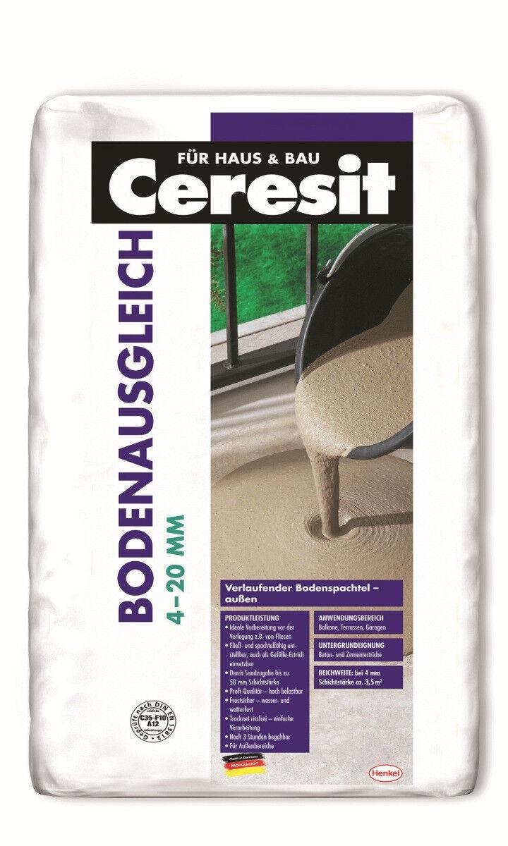 Ceresit Ausgleichmasse 4 - 20 mm Bodenausgleich 25kg