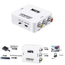 HDMI To AV Adapter Mini Converter Cable CVBS 3RCA 1080P Composite Video Audio