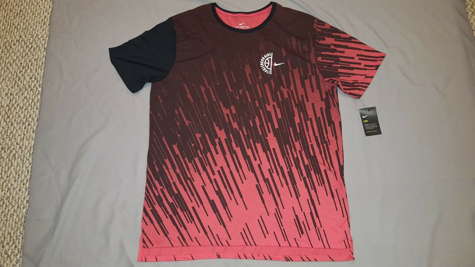 Nike Mens Basketball Dry Gradient Print Drop Tail Tshirt 844506 XLarge