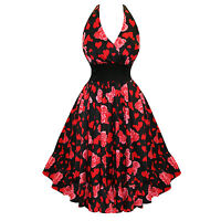 Hearts and Roses London Floral Print Marilyn Style 50s Vintage Summer Sun Dress
