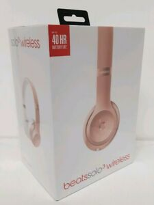Beats Solo 3 Wireless On Ear Headphones Rose Gold Bluetooth Microphone Fast Fuel 190198105455 Ebay